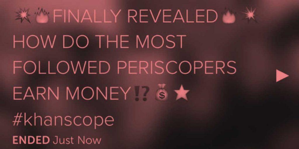 Periscope influencer Alex Khan