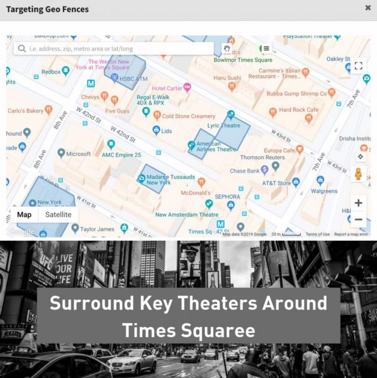 Reach customers at key locations around the city