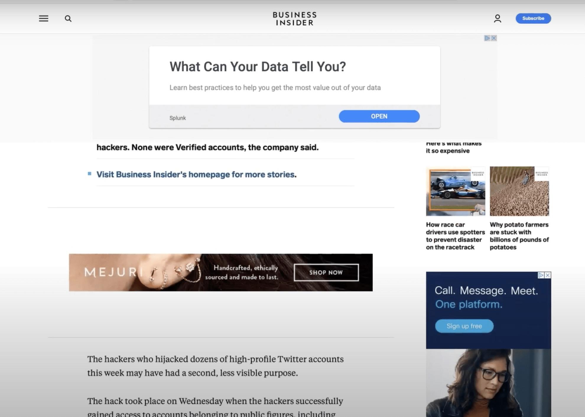 Contextual URL Targeting