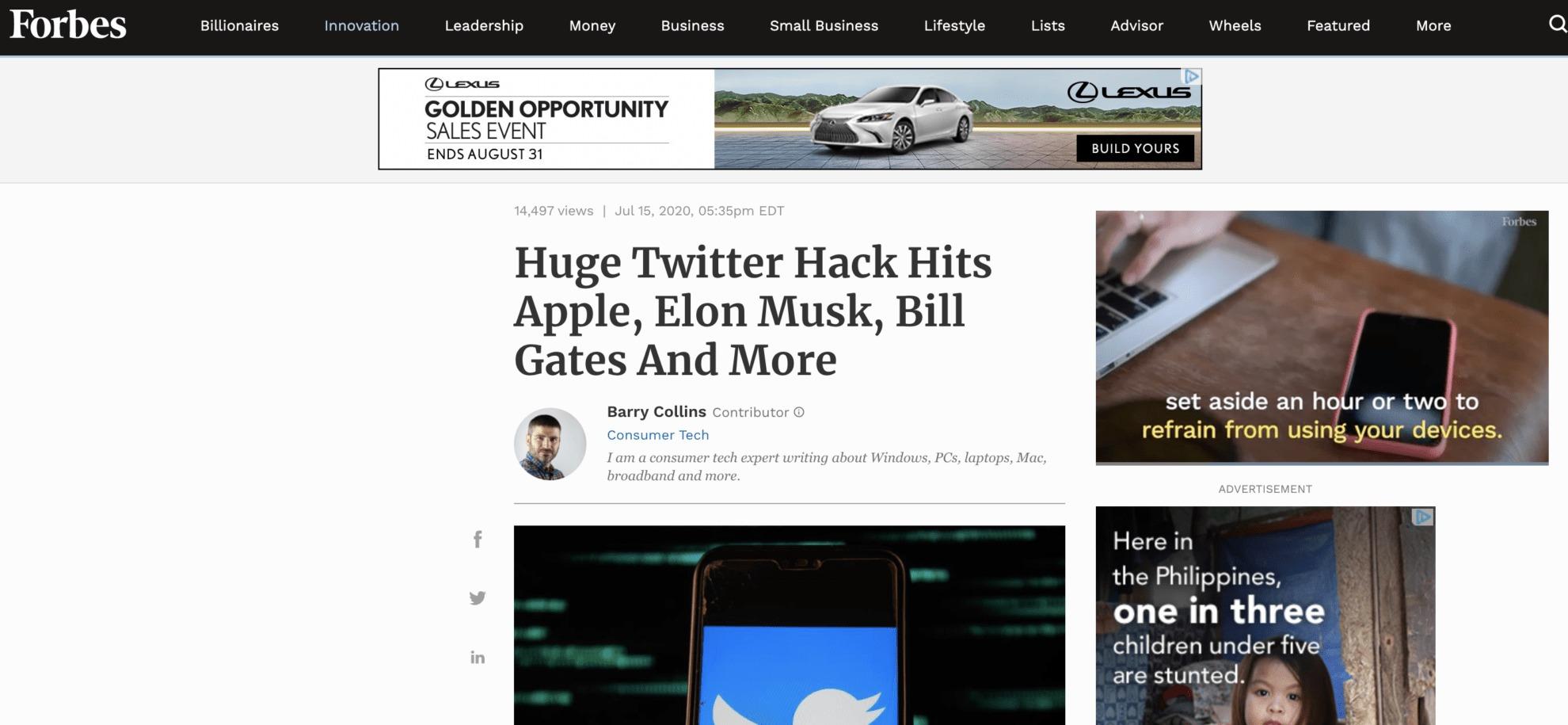 Elon Musk Hacked Twitter Account