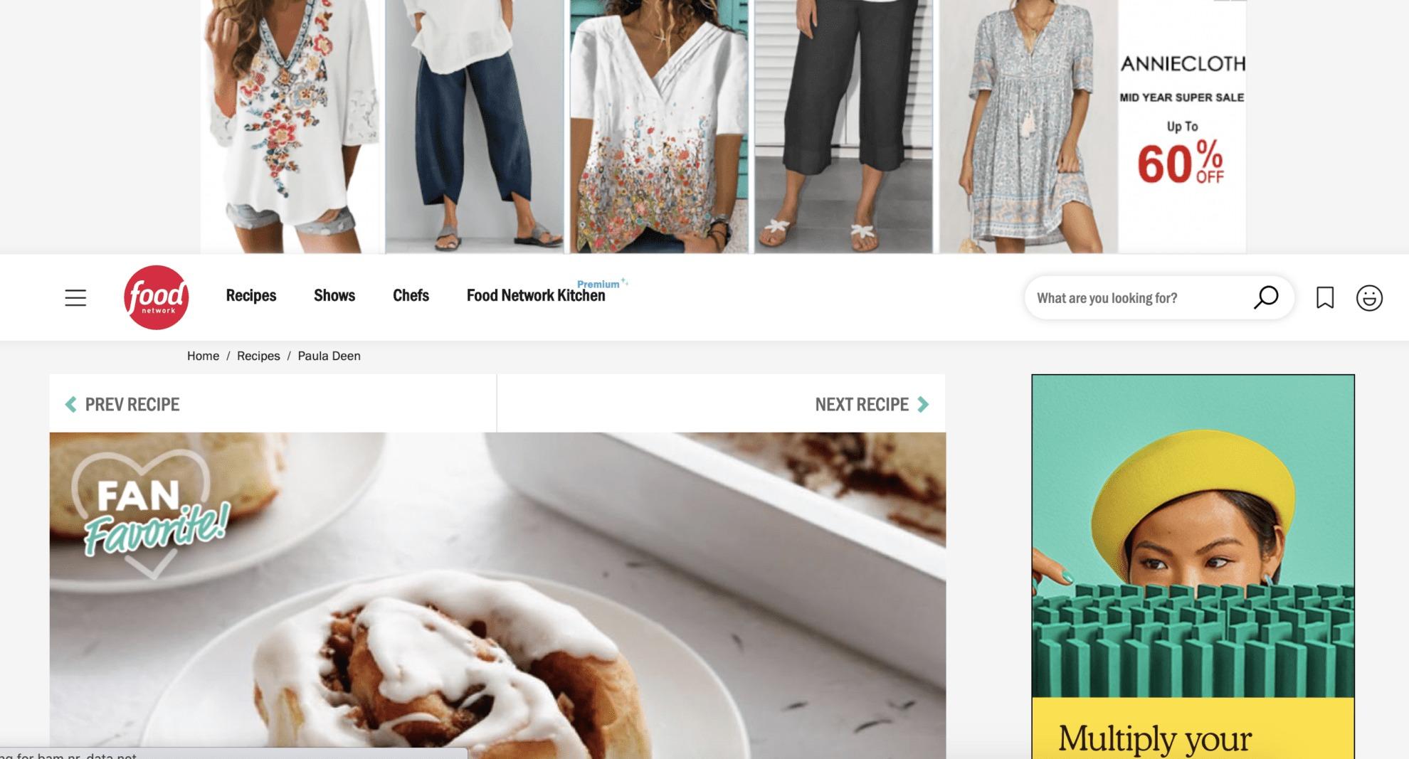 Food Network URL Targeting Advertising