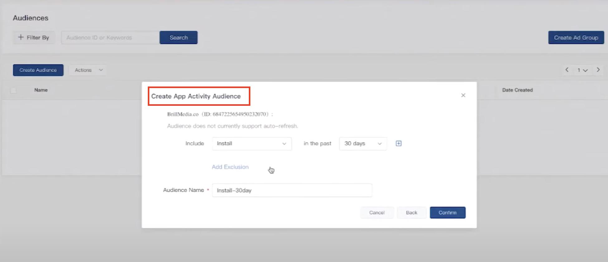 TicTok App Activity Selection Tool